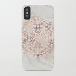 Rose Gold Mandala Marble iPhone Case