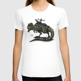 Zombies Riding a Trex T-shirt