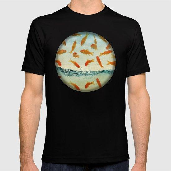 raining gold fish T-shirt