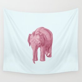 Pink elephants and the emperor of icecream Wall Tapestry