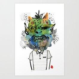 Monster me Art Print