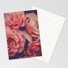 Roses in the night garden Stationery Cards