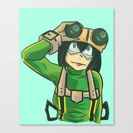 frog girl Canvas Print