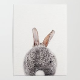 Bunny Tail, Bunny Rabbit, Baby Animals Art Print By Synplus Poster