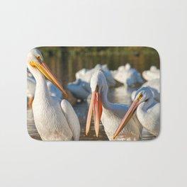 Three Birds Walk Into A Bar Bath Mat