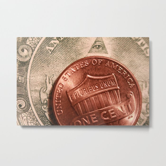 Money! Metal Print