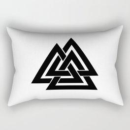 Valknut (black) Rectangular Pillow