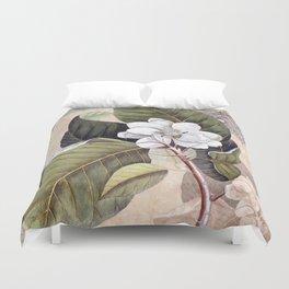 Vintage White Magnolia  Duvet Cover