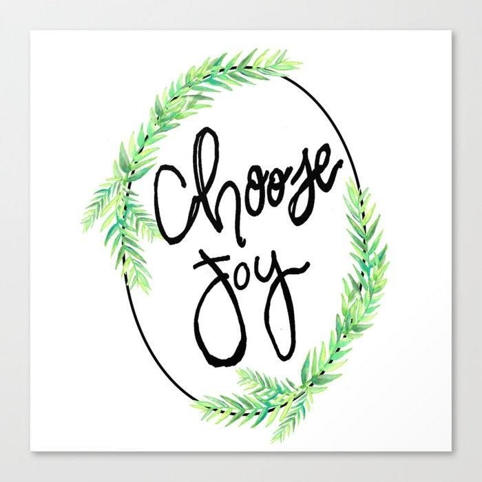 choose joy wreath Canvas Print