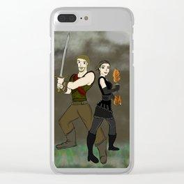 Robin and Regina Clear iPhone Case