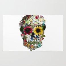 Skull flower Rug