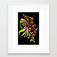 indie Framed Art Prints featuring Midnight Indie by trendaholic