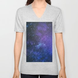 Purple Star Galaxy Unisex V-Neck