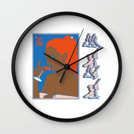 Elsa en playa ancha Wall Clock