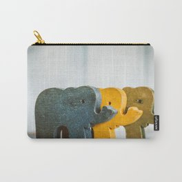 Three Elephants Carry-All Pouch