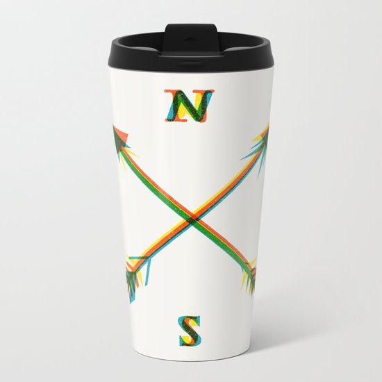 Compass Metal Travel Mug