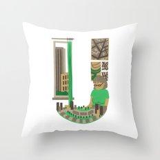 U as Urbaniste (Town planner) Throw Pillow