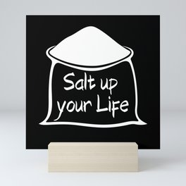 Salt up your Life Mini Art Print