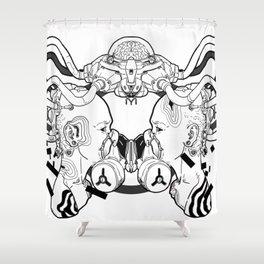 twin mech Shower Curtain