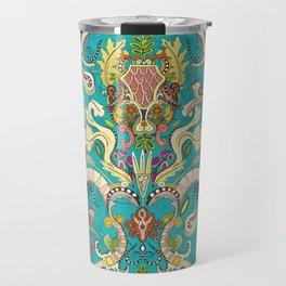 boho rococo turquoise Travel Mug