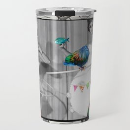 Hooping Homemakers with a blue fish (and other things) Travel Mug