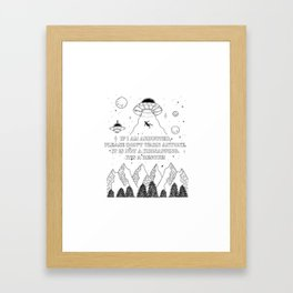 UFO Abduction Framed Art Print