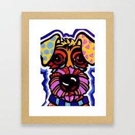 Rover Terrier Dog Airedale Wheaton Lakeland Kerry Schnauzer Fox Puppy Pet Animal Framed Art Print