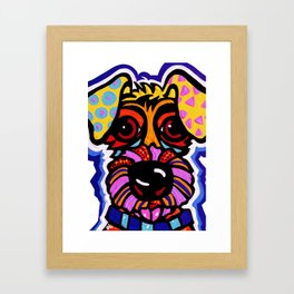 Rover Terrier Dog Airedale Wheaton Lakeland Kerry Schnauzer Fox Puppy Pet Animal Framed Art Print