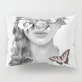 woman with flowers and butterflies 9a Pillow Sham