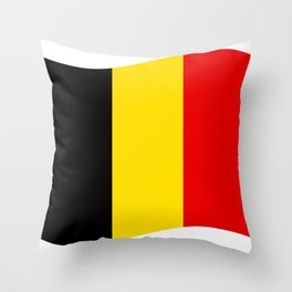 Belgian flag Throw Pillow