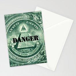 danger dollar Stationery Cards