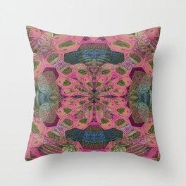 Vintage Queen Bee Mandala Throw Pillow