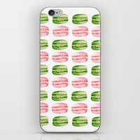 macarons iPhone & iPod Skins featuring Macarons by Sarah Moore