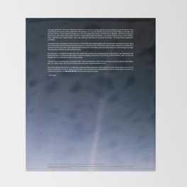 Pale Blue Dot — Voyager 1 (2020 rev.), quote Throw Blanket