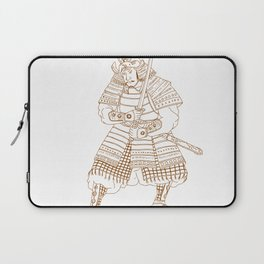 Bushi Samurai Warrior Drawing Laptop Sleeve
