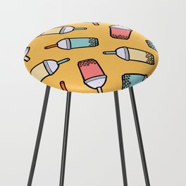 Bubble Tea Pattern Counter Stool