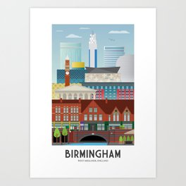 Birmingham Art Print