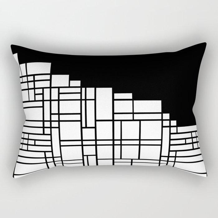 Map Black Boarder Rectangular Pillow