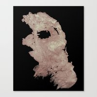 in the flesh Canvas Prints featuring Flesh by Vezper Art