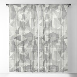 Abstract Geometrical Triangle Patterns 3 Benjamin Moore 2019 Trending Color Cloud White OC-130 Sheer Curtain