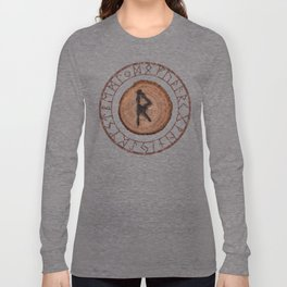 Raidho Elder Futhark Rune Travel, journey, vacation, relocation, evolution, change of place Long Sleeve T-shirt