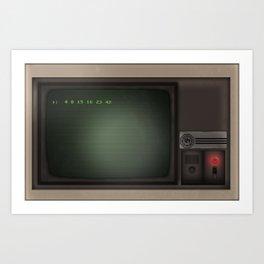 Lost Dharma Swan Station Computer  Art Print