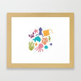 Splish Splash Framed Art Print