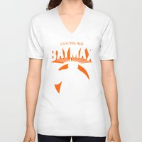 baymax V-neck T-shirts featuring Baymax by Pixel Design