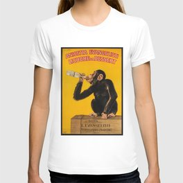 Vintage Anisette Liquor Italian Drinking 'Drunken Monkey' Aperitif Advertisement Poster T-shirt