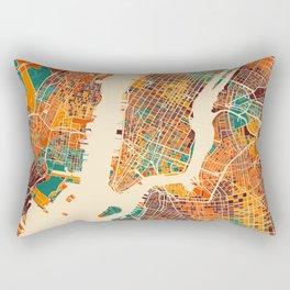New York Mosaic Map #2 Rectangular Pillow
