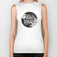 panic at the disco Biker Tanks featuring My Life Is Too Much Panic! not Enough Disco by Merch Pug