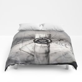 Cabernet - black and white wine photo vineyard Comforters