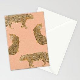 sunset leopards Stationery Cards