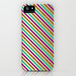 Glitter Stripes iPhone Case